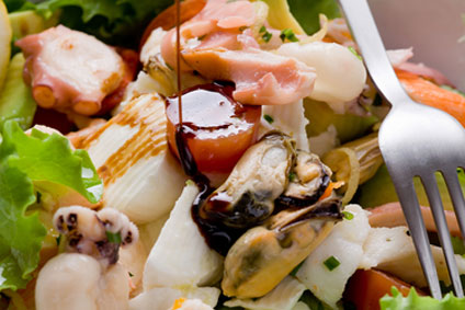 Clam and Crab Stick Salad